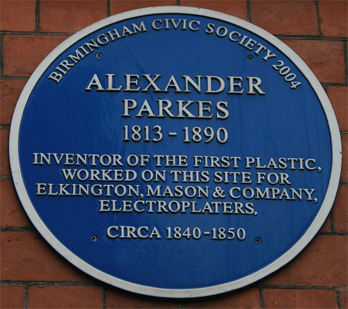 Blue plaque on the old Birmingham Science Museum