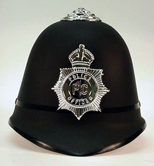 British 'Bobby' custodian helmet