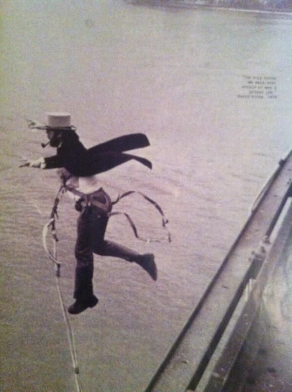 First Bungee jump 1979