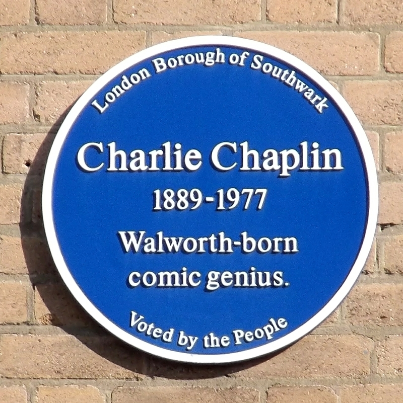 Charlie Chaplin blue plaque