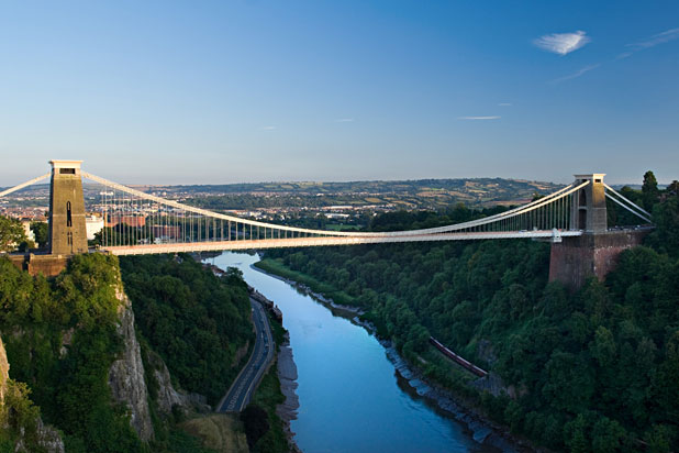 Clifton suspension bridge first bungy jump