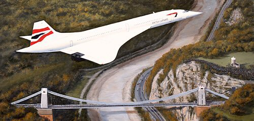 Concorde over Clifton Bridge