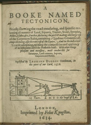 Digges Tectonicon a 1634 edition originally published in 1556.