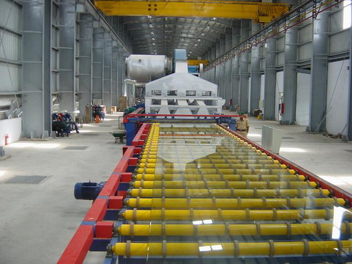 Float Glass being produced