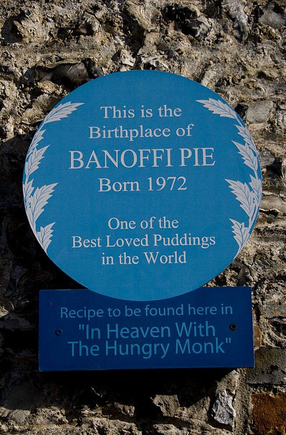 Hungry Monk Blue plaque