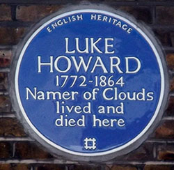 Luke Howard plaque 7 Bruce Grove, Tottenham