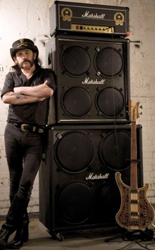 Lemmy and a Marshall stack