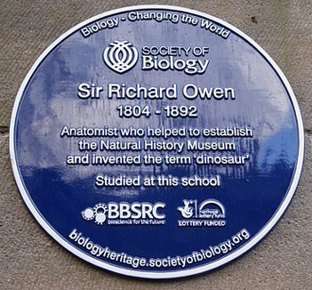 Sir Richard Owen plaque