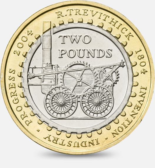Trevithick 200 years Coin