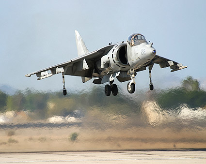 Harrier vertical take off