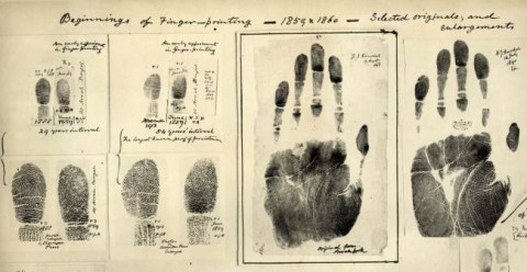 Sir William Herschel finger prints