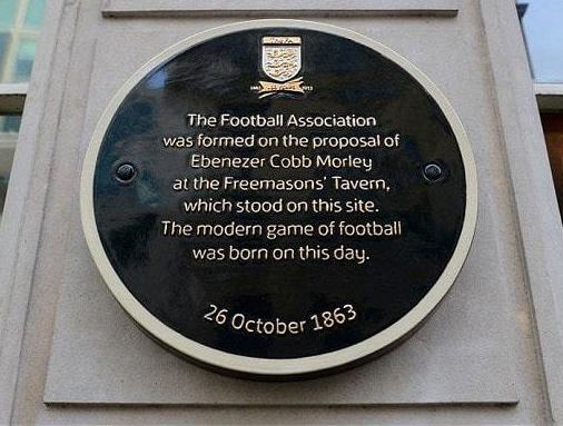 FA tribute plaque to Morley