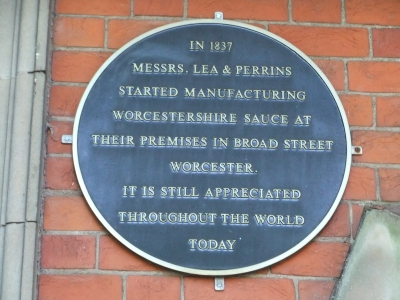 Lea and Perrins Blue Plaque
