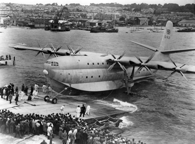 Flying boats became immense like the Saunders Roe Princess