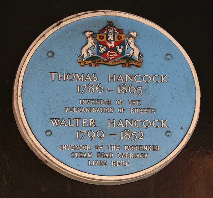 Thomas Hancock Plaque for the vulcanisation of rubber