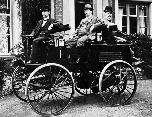 Thomas Parker In His Electric Car